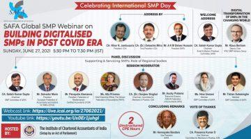 "SAFA Global SMP Webinar ""Building Digitalised SMPs in Post Covid Era"""