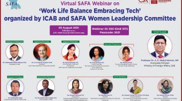 SAFA virtual Webinar on the topic 'Work Life Balance Embracing Tech'